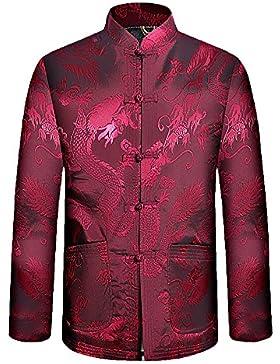 KIKIGOAL Verdickt Chinoiserie Tang-Anzug Kostüm Jacke für Männer Chinesische Kleidung Baumwolle und Polyesterfaser...