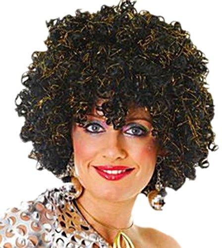 Fancy Ole - Damen Frauen Perücke Afro Look Gold, (Kostüm Beatles Girl)