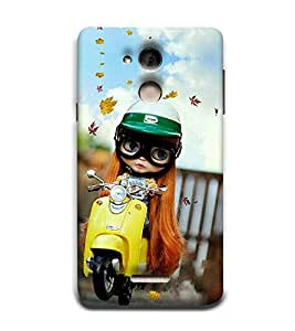 Takkloo Baby doll ( cute doll, white hair, beautiful eyed doll, doll wearing helmet, doll wearing specs) Printed Designer Back Case Cover for Coolpad Note 5
