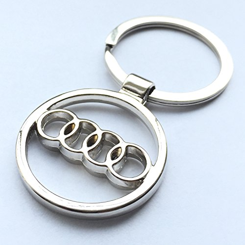 iTech ® Audi Chrome Metal Car Logo Keyring Key Fob Keychain