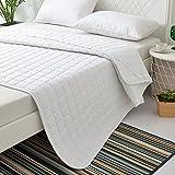 Anti-milben matratze, Sommer Klimaanlage Cool Rutschfest Matratze, Folding Schlank matratzenschoner Geeignet für Nackt Schlafen-Weiß 180x200cm(71x79inch)