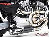 Harley Davidson XR 1200 Zard Impianto Scarico Completo con Silenziatore in Carbonio System Exhaust