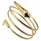 flyyfree Fashion gewickelten Schlange Spirale Oberarm Manschette Armband Armreif Armband