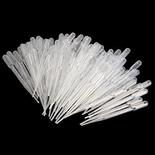 SODIAL(R) 100 pz Laureato Pipette contagocce in polietilene (3 ml)