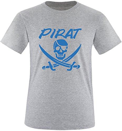 EZYshirt® Pirat Herren Rundhals T-Shirt Grau/Blau