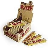 Lot de 50 paquets de cigarettes électroniques Raw Organic Natural Hemp King Size Slim Rolling Paper Cigarette Skin
