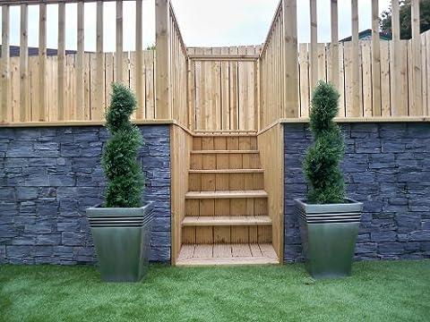 2Künstliche (TM) 90cm 3ft Cedar Spiral Topiary Bäume Alt Buchsbaum * * UV-Verblassen geschützt *
