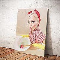 MINRAN DECOR A Druck Poster Kunstdruck – Toilettenmalerei CP142 – Modern Art Canvas Print - Canvas Print Stretched on a Frame als Moderne Wanddekoration, A, 30 * 25CM