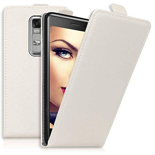 mtb more energy® Flip-Case Tasche für LG Class | LG Zero (H650, 5.0'') | Weiß | Kunstleder | Schutz-Tasche Cover Hülle