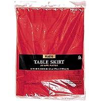 Amscan - Faldón de mesa, color rojo (77025-40A)