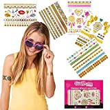 GirlZone: Hypoallergen Glitzertattoo 65er Set - Temporäre Flash Tattoos & Klebetattoos - Temporätattoos - Tattoo Sticker Kinder - Mädchen Geschenke - Mitgebsel Kindergeburtstag