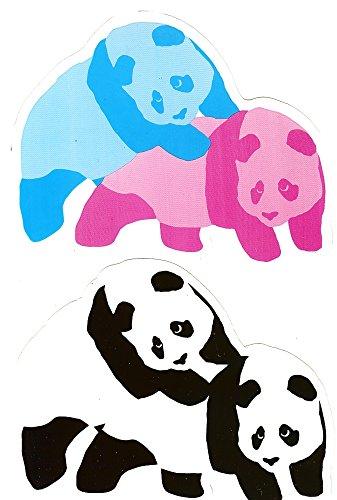 Enjoi Your Life Set di adesivi panda Skate Confezione Doppia 153x 115mm
