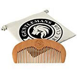 Beard Comb - Gentlemans Face Care Club Highest Quality Handmade Wooden Comb - Handy Pocket Size For Snag Free Moustache And Beard Care With FREE Storage Bag - Perfect Gift For Men + Can Be Used With Beard Oil Or Wax - 100% Satisfaction Guarantee