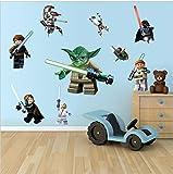 Lego Star Wars Wandaufkleber Kindergarten Kinder Schlafzimmer Entfernbarer Wandaufkleber Wandgemälde Abziehbild Dekor Baby Dekoration