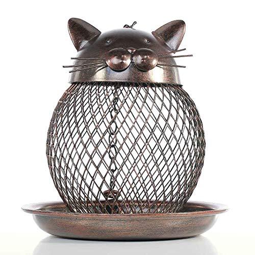 NOBLJX Bird Feeder Hanging Caged Wild Bird Feeder Samen Nüsse Laterne & Fat Balls Eichhörnchenschutz für Vögel außerhalb Birdhouse Eichhörnchen-Proof Garten Yard Dekoration