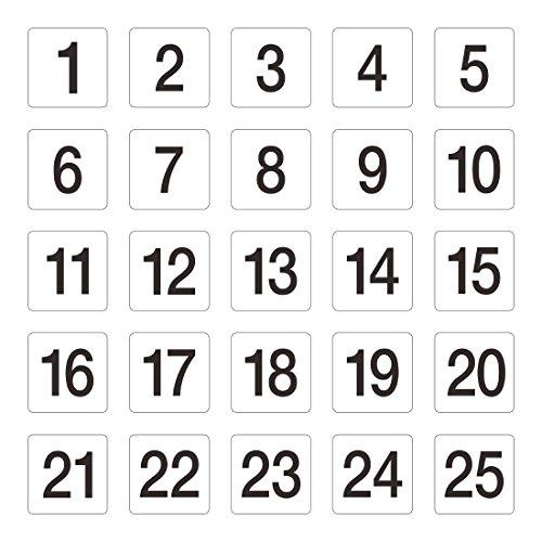 numéros de table 1–25 95 x 100 mm Mariage Pubs clubs de restaurant Cafe Bar