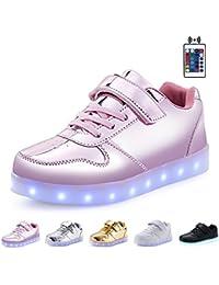 Kealux Glänzend Nacht USB Aufladen 7 Farben Schnüren Aufhellen LED Schuhe Niedrige Oberseite Sport Sneaker Mit Fernbedienung Steuern Zum Kinder Jungen und Mädchen