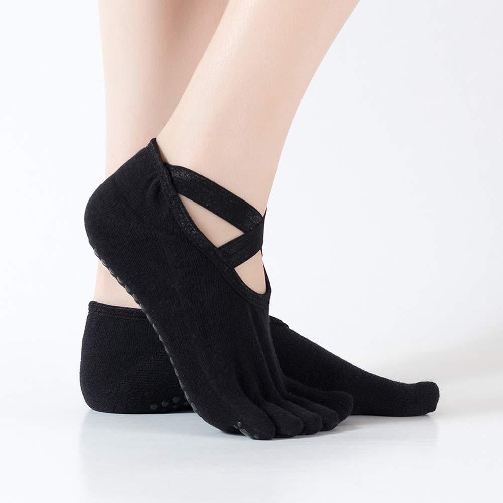 MXYXY rutschfeste Sport-Socken Yoga-Socken Ballettmodelle Rückenfreie Yoga-Socken Fünf-Finger-Socken Atmungsaktive…