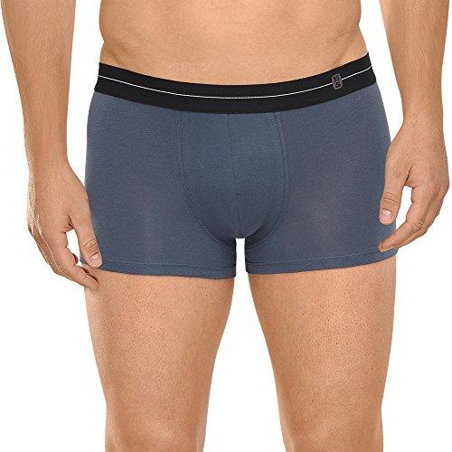Schiesser Herren Retroshorts 95/5 Shorts, Gr. X-Large (Herstellergröße: 007), Grau (dunkelgrau 205) (Boardshort Schwarz Gestreifte)