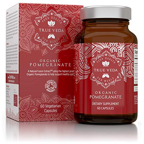 Organic Extract Capsules from Granada - With Ecological Certification | 100% Natural High Absorption Plant Supplement | Vegan | Ayurveda | Superfood | 60 Easy Ingest Capsules
