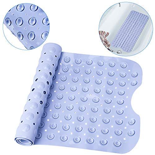 Nozdom tappetino per vasca vasche da bagno tappetini antiscivolo 100 * 40 cm lavanda, tappetini da doccia con ventosa per il bagno