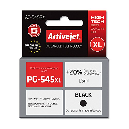 Preisvergleich Produktbild ActiveJet AC-545RX Refill für Canon PG-545XL, 18 ml, schwarz
