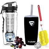 Fruitalite Fruit Infuser Water Bottle,1 Litre: POLAR EDITION, featuring Polar Ice Gel Ball