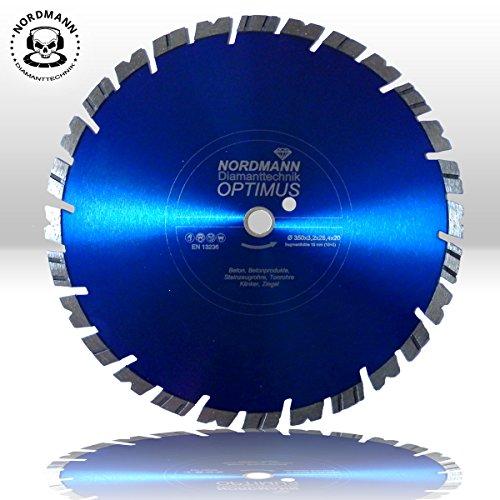 """Preisvergleich Produktbild Diamant-Trennscheibe """"OPTIMUS 15"""" - Ø 350 x 25,4 mm - für Granit, Beton, Stahlbeton, Klinker, Ziegel etc."""