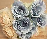 Bumen kunstblumen 1 Pack 12 Stück Seidenrosen tischdeko Hochzeit deko hochzeitsspiele deko Ideen kunstblumen Hochzeitsblumenstrauß Blumenschmuck Rose Versand - 2