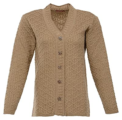 Crazy Choice Women's Wool Cardigan (Camel, XX-Large)