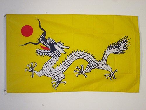 AZ FLAG Bandera del DRAGÓN Chino 150x90cm - Bandera del Dragon DE China 90 x 150 cm