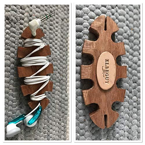 Kabel aufrollen, Kopfhörer aufwickeln Holz Vol-kabel