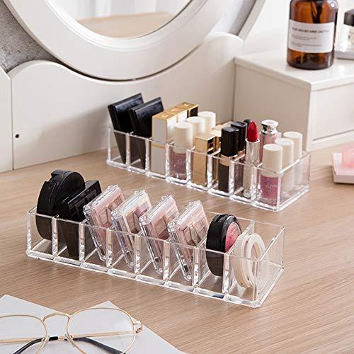 Plastikkosmetik-Organisator, Unterschiedlicher Transparenter Puder-Lidschatten-Lippenstift Erröten Countertop-Anzeigen-Magazin -