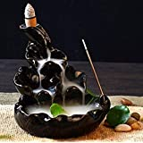 Pujan Shop Dropping Smoke Fountain/Design Smoke Backflow/Cone Decorative Incense Holder with Free 10 Back Flow Incense Cones