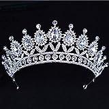 OCEUGS Barock Big Strass Kristall Perlen Stirnband Tiara Braut Krone Hochzeit Korean Haarschmuck -
