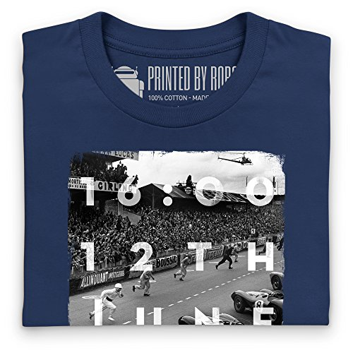 Official LAT Photographic 1954 Le Mans 24 Hours, France T-shirt, Uomo Blu navy