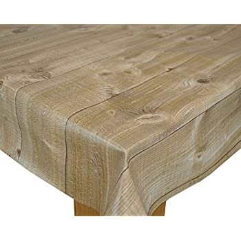 Wood Effect Plank PVC 200 X 140cm Wipe Clean Tablecloth By Karina Home