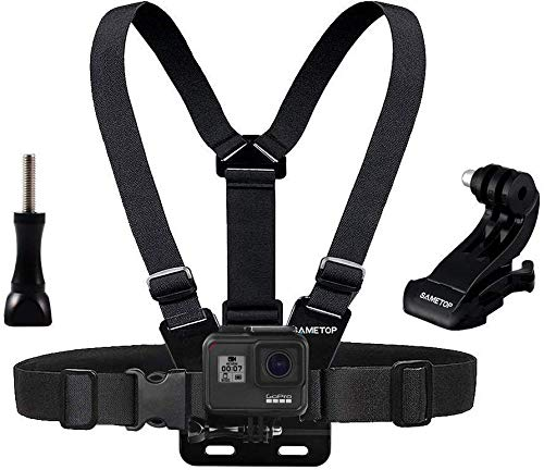 Sametop Brustgurt Halterung Gurtsystem Chest Mount Kompatibel mit GoPro Hero 6, 5, 4, Session, 3+, 3, 2, 1 Kameras