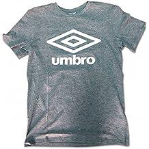 Umbro Cotton Logo Camiseta, Hombre, Grey Marl/White, Medium