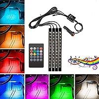 MENGZHEN 1PC Mini Kit Illuminazione Interna Auto LED Illuminazione Interna a Piedi Atmosfera Luce Lampada Decorazione Luce