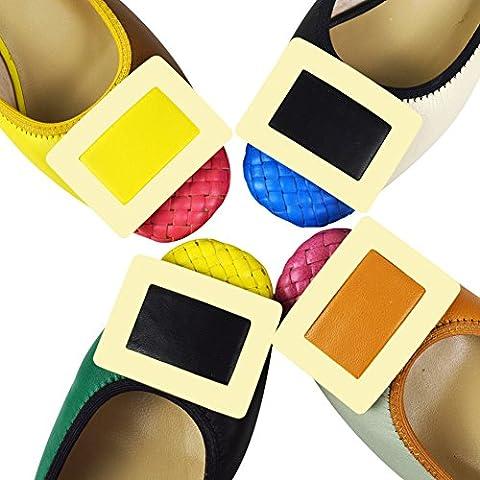 Deslizamiento casual de la moda de las mujeres en los zapatos medios del talón del cuero de la zalea 0018-9