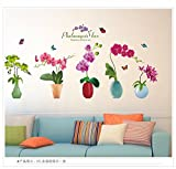 HCCY Kreative Schlafzimmer Wände sind Wände selbstklebende Sticker Bild von Kindergarten Kinder Zimmer warm kleine Topfpflanzen ,05 frische Glück Phalaenopsis eingerichtet