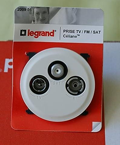 PRISE TV-FM-SAT CELIANE BLANC REF 200956