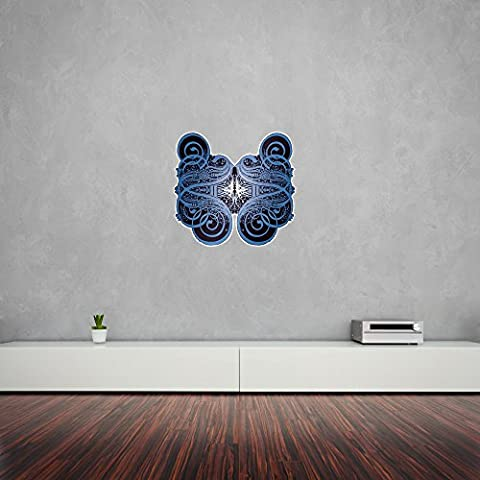 Calligraphy Bird Mandala Vinyl Wall Art Sticker / Vinile da Parete / Adesivi per la Casa