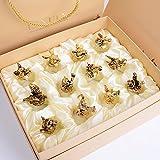 YUCH set _12 nur zwölf sternzeichen weißwein glas weingläser anzug kreativen zu hause,antike gold