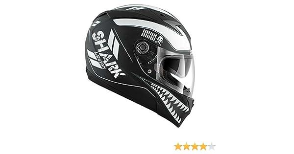 366fdd14 HE0227EKKWXS - Shark S700-S Legion Mat Motorcycle Helmet XS Black/White  (KKW): Amazon.co.uk: Car & Motorbike