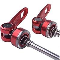 ZTTO - Pinchos ultraligeros de liberación rápida para bicicleta de carretera MTB (1 par), rojo