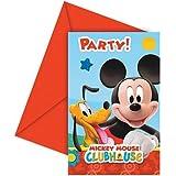 Perona - Pack 6 invitaciones, Mickey Mouse ( 50872)