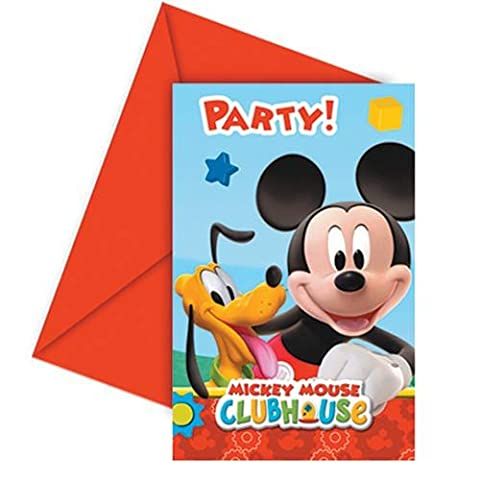 Amscan Playful Mickey Invites/ Envelopes Party Accessory