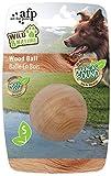 Wild & Nature - Maracas Wood Ball Small - Hundespielzeug aus Holz mit Geräusch wie Rumbakugeln